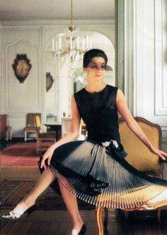 Inspiration: Countess Jacqueline de Ribes wearing Dior. Photo: Raymundo de Larrain.