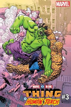 Fun action page of Thing fighting Hulk by Jim Starlin and Joe Sinnott from Marvel Feature 11 Hulk Marvel, Marvel Comics Superheroes, Marvel Heroes, Hulk Avengers, Comic Book Characters, Comic Character, Comic Books Art, Comic Art, Arte Do Hulk