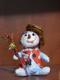 Купить Елочная игрушка. Снеговик - комбинированный, снеговик, новый год 2017, авторская ручная работа