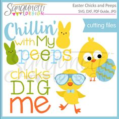 Easter SVG, DXF, Bunny SVG, Chick svg, cut file, Easter Lettering, Files for Cutting Machines Cameo or Cricut