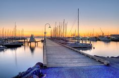 Williamstown Pier at Sunrise Williamstown Victoria, Williamstown Melbourne, Places In Melbourne, Victoria Australia, Melbourne Australia, Big Island, Life Is Good, Travel Inspiration, New York Skyline
