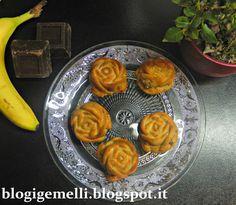 iGemelli: Muffin roses alla banana con crema di nocciole