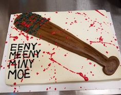 Walking Dead Cake!!!! I had so much fun with this one!!! #thewalkingdead #thewalkingdeadcake #walkingdead #walkingdeadcake #negan #negansbat #negansbatcake #metromarket #eenymeenyminymoe #lucille