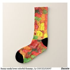 Shop funny candy lover colorful Gummy bear Socks created by CHICELEGANT. Personalize it with photos & text or purchase as is! Halloween Make Up, Halloween Themes, Halloween Costumes, Halloween Party, Funny Candy, Designer Socks, Gummy Bears, Love Gifts, Crew Socks