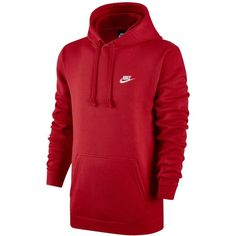 Nike Men's Pullover Fleece Hoodie ($30) ❤ liked on Polyvore featuring men's fashion, men's clothing, men's hoodies, university red, mens hoodies, mens fleece hoodie, mens red hoodie, nike mens hoodies and mens sweatshirts and hoodies