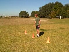 Cutting and Reaction Drill for lacrosse and football. Teaches instinctive quickness and speed. Great for conditioning at any age level. Soccer Drills For Kids, Basketball Skills, Soccer Practice, Soccer Tips, Soccer Memes, Women's Basketball, Football Workouts, Football Drills, Flag Football