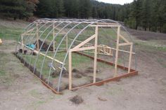 We completed building our green house last weekend. We started on April and worked on it for four continuous weekends. We are very pleased with the way it turned out. We opted for a modest siz Pvc Greenhouse Plans, Greenhouse Panels, Greenhouse Construction, Backyard Greenhouse, Greenhouse Growing, Small Greenhouse, White Clematis, Wendy House, Cold Frame