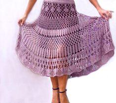 Crochet Skirt Gypsy Skirt Long Skirt Lilic Lace Free Shipping ccc833cb420