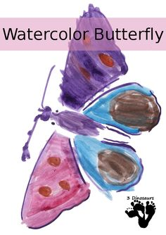 Watercolor Bugs With Stencils Insect Activities, Painting Activities, Alphabet Activities, Science Activities, Educational Activities, Toddler Activities, Art For Kids, Crafts For Kids, Pre School