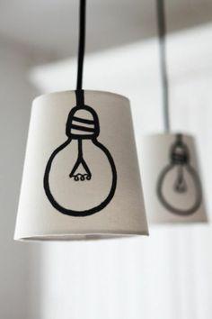 Lampen selber machen DIY Lampen Lampenschirm basteln Ideen