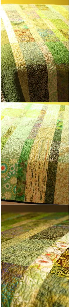spring grass green quilt on Etsy!