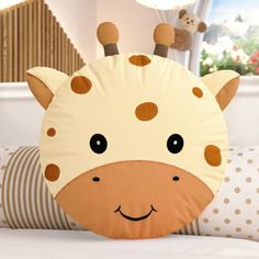 Round Cushions Little Friends Safari 4 Pieces}. Baby Pillows, Kids Pillows, Animal Pillows, Baby Room Design, Baby Room Decor, Sewing Projects For Kids, Sewing For Kids, Sewing Toys, Baby Sewing