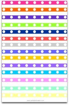 polka dot paper, paper lint, paper ribbon, hot pink, lime green, orange, purple, blue, free dividers, free borders