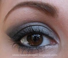 Urban Decay - Naked Palette: - Gunmetal (lid) - Creep (outer V) - Sin (brow bone highlight and under eye)