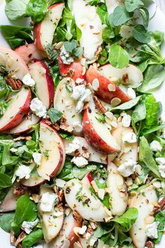 Peach Salad with Blue Cheese and Fresh Herbs FoodBlogs.com