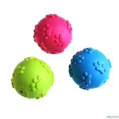 Funny Teeth Bite Rubber Dog Play Ball Products Interactive Toys 3 Color