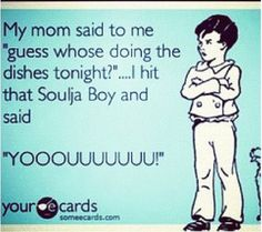 Hahahaha.... Wonder what my mama woulda said if I woulda did this when I stayed at home... LOL