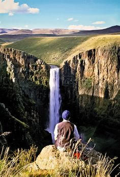 LESOTHO! Admire the Maletsunyane Falls - one of the highest single dropping waterfalls in Africa! #Lesotho