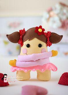Boneca em: http://ericacatarina.blogspot.com.br/Ei Menina!
