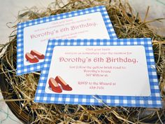 Wizard of Oz printable party invitations by Sunnybydesign on Etsy, $5.50