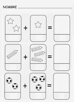 Number and basic math worksheets Kindergarten Math Activities, Preschool Printables, Kindergarten Worksheets, Kindergarten Activities, Preschool Activities, Math For Kids, Fun Math, Teaching Kids, Kids Learning