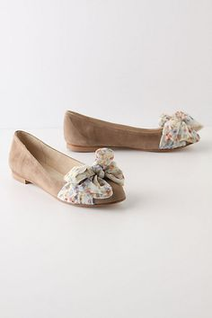 Scarf-Topped Skimmers, Beige$148.00