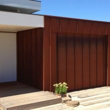 Corten Garage Cladding