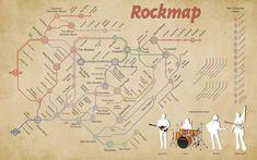 RockMap: La historia del rock. #infografia #infographic #music