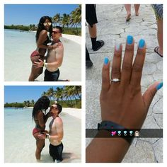 Cute newly engaged interracial couple #love #wmbw #bwwm #swirl