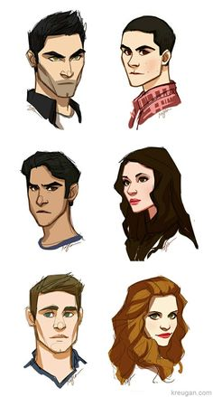 Teen Wolf Fan Art - OH MY GOD, each cartoon character looks exactly like the actors on Teen Wolf!!! :D