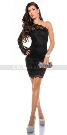 Alkalmi ruha, fekete csipke - 18336