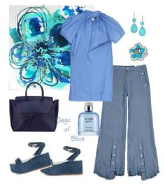 """Blue Monday🍹"" by parnett ❤ liked on Polyvore featuring Jamie Wei Huang, Marni, Chanel, Alexandra de Curtis, Dolce&Gabbana, LE VIAN and Ippolita"