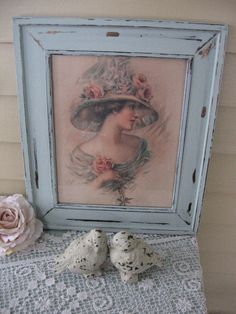 Victorian lady print Vintage Fashion Print Shabby by Fannypippin,