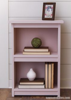 The small size makes this DIY bookcase a smart choice for any room.