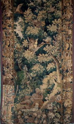 Antique Beauvais Silk Tapestry French Gobelin 18th Century