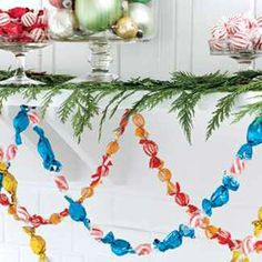 Christmas candy garland
