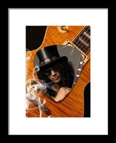 Slash Framed Print featuring the mixed media Slash Art by Marvin Blaine