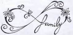 Family infinity tattoo design