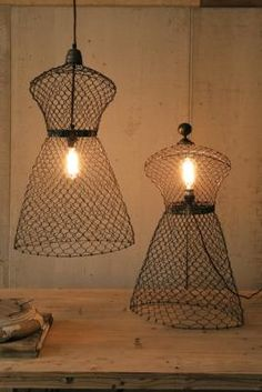 Dress Form Lights - would be cute in a sewing room