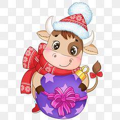 navidad,pintado a mano,vacas,dibujos animados,navidad,pelota,la lotería,arco,el sombrero de navidad,bufanda,animal,festival