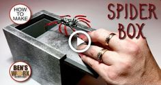 How to make a spider scare box Prank Box, Prank Gift Boxes, Prank Gifts, Spider Prank, How To Make Spiders, Do It Yourself Food, Christmas Wood Crafts, Wooden Keepsake Box, How To Make Box
