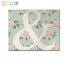 Printable Art Print Ampersand Floral and Blue by ColorPrintables, $5.00