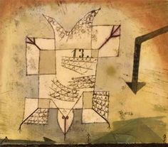 Paul Klee 'A Crashing Bird' 1919 Ink and watercolor 19 x 16 cm