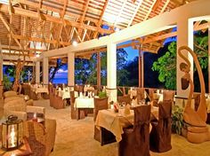 With sweeping views of the distant Pitons and the Caribbean Sea, this 600-acre resort features octagon-shaped hillside cottages with wraparound balconies. Rooms are sans telephones and TVs so the outside world won't encroach on your vacation. Scuba dive, snorkel, or go on a sunset sail, then dine on Caribbean fare at the open-air Treehouse Restaurant.