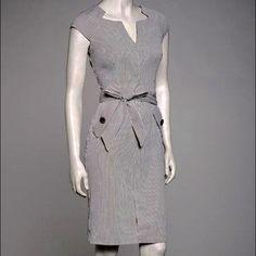 ab76dc9615 Sharagano Gray Seersucker Cap-Sleeve Dress on zulily today!