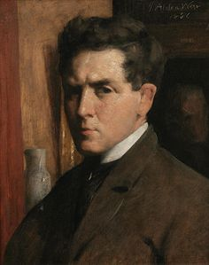 Julian Weir, Self Portrait, 1886, oil on canvas, 21 × 17 in., National Academy Museum, New York, 1390-P.