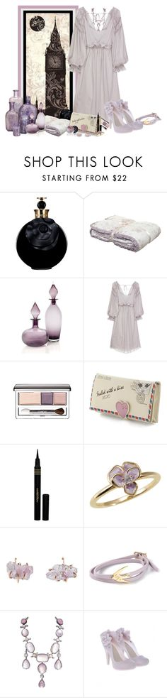 """""""L'appel de Londres"""" by frane-x ❤ liked on Polyvore featuring Valentino, Shabby Chic, Alberta Ferretti, Clinique, Napoleon Perdis, Melissa Joy Manning and McQ by Alexander McQueen"""