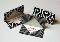 Origami business card holders -- you can make out of paper or fabric. Maybe even use for giving gift cards.