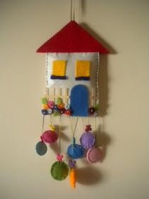 Felt house wall and door ornament .- Keçe ev duvar ve kapı süsü…. Felt house wall and door ornament …. Home Crafts, Diy And Crafts, Crafts For Kids, Felt Christmas, Christmas Crafts, Christmas Houses, Visual Art Lessons, Craft Projects, Projects To Try