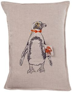 45 x 45 cm Square Format 18 x 18 inches Penguin Illustration Penguin Square Pillow Case and Cushion